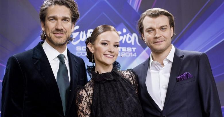 Pilou Asbaek, Nikolaj Koppel si Lise Ronne - Eurovision 2014