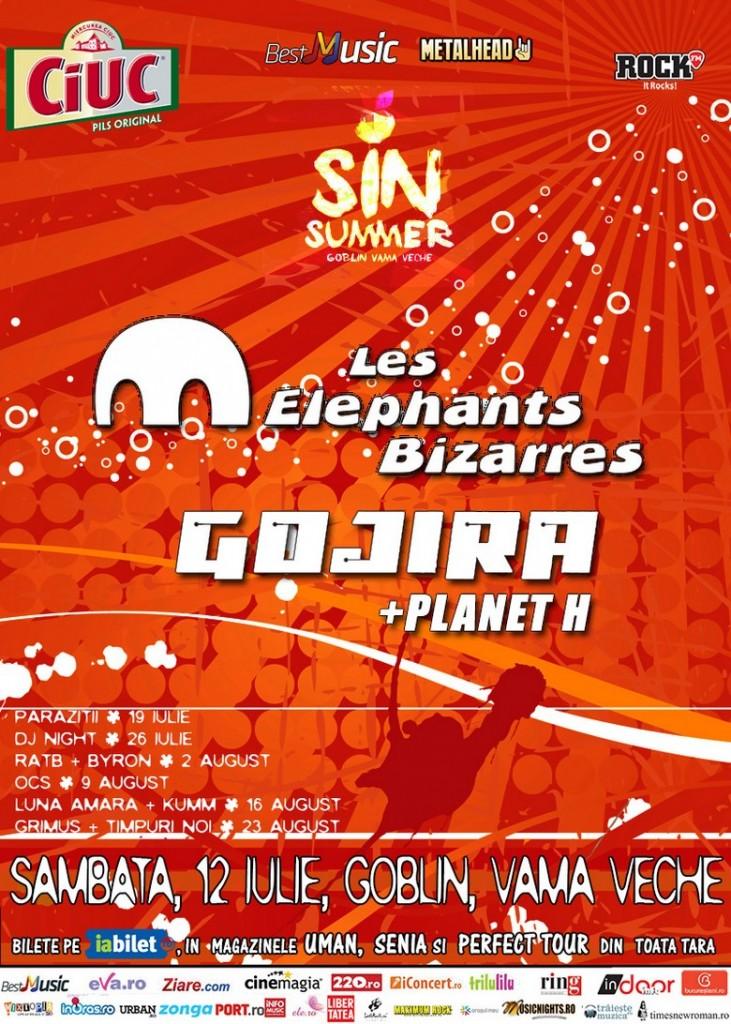 Les Elephants Bizarres - Afis Vama Veche