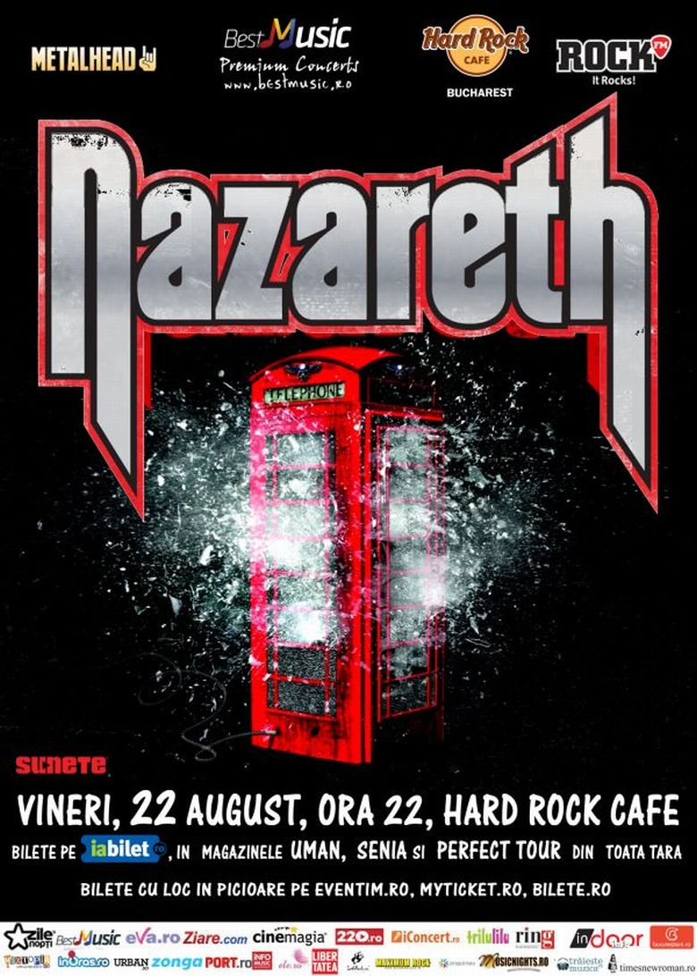 nazareth hard rock cafe bucuresti 22 august