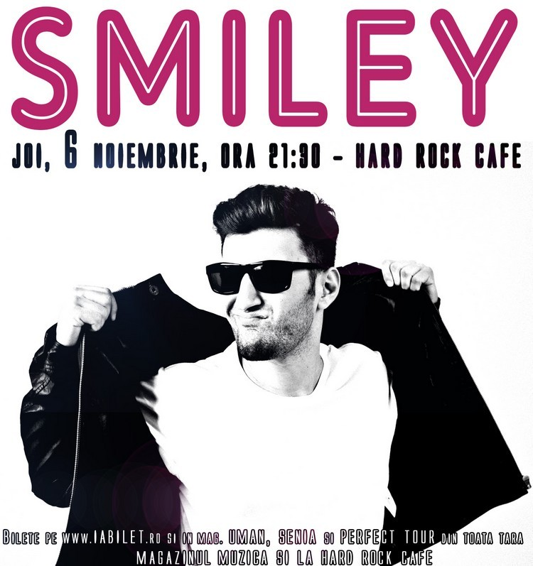 Poster Smiley hard rock concert