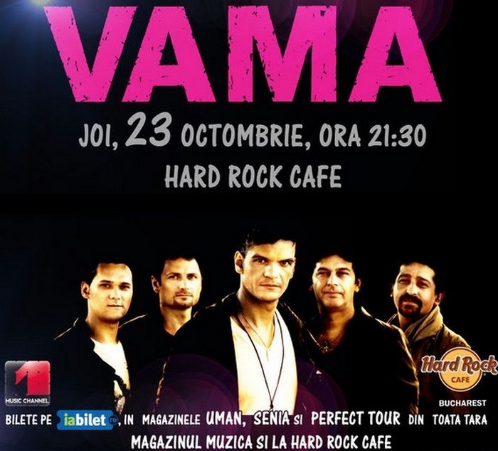 vama afis concert hard rock cafe