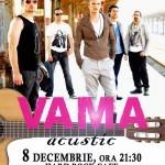 Trupa Vama va susţine, pe 8 decembrie, un concert acustic la Hard Rock Cafe