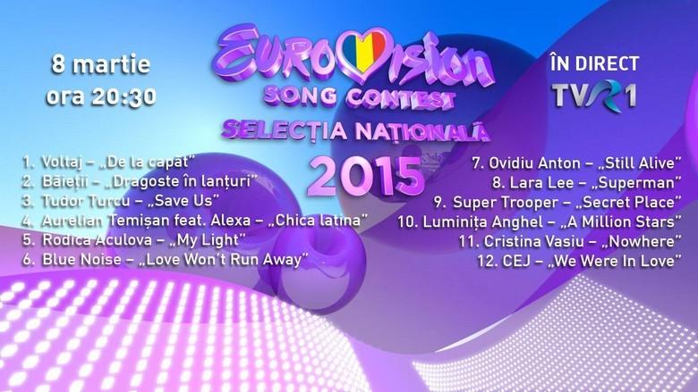 Ordine intrare pe scena FINALA EUROVISION 2015