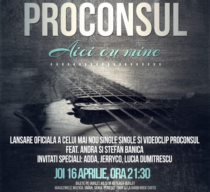 afis concert proconsul 16 aprilie hard rock cafe