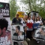 Fanii lui Pablo Alboran au organizat un flashmob în cinstea sosirii artistului