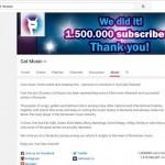Canalul de YouTube al Cat Music, primul canal din România cu peste 1.500.000 de abonaţi