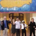 VIDEO Yoko Ono, Bono și The Edge au dezvelit o tapiserie în amintirea lui John Lennon