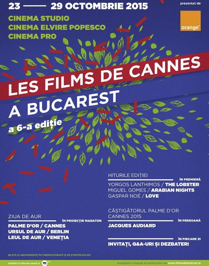 Les Films de Cannes a Bucarest 2015_Afis bilete