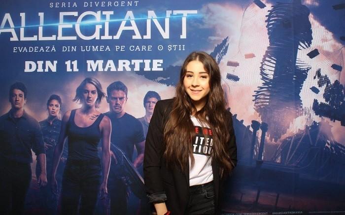 Nicole Cherry avanpremiera Allegiant IMAX Freeman Entertainment
