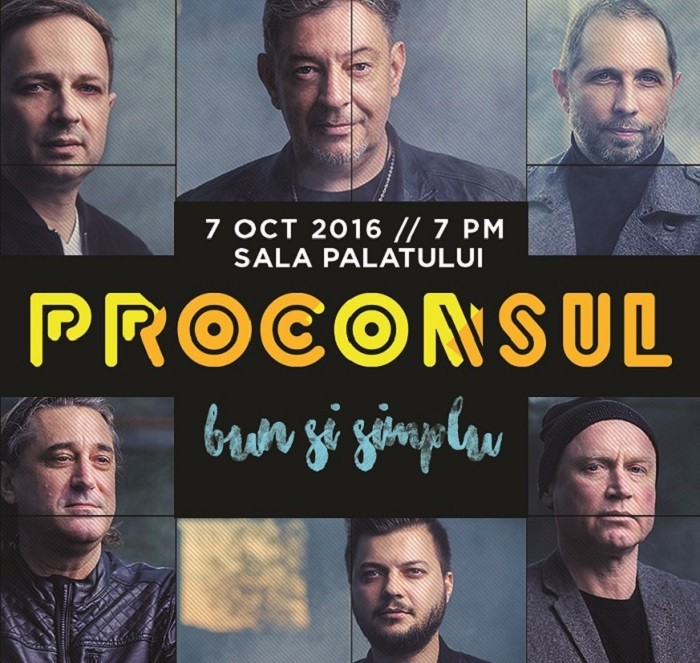 proconsul bun simplu concert sala palatului octombrie 2016